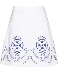 Tory Burch Cecile Cotton Skirt - Lyst
