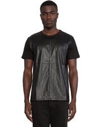 Sons Of Heroes Damaged Goods Leather Sleeved Shirt black - Lyst