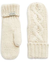 Rella - Cable-knit Mittens - Lyst
