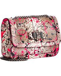 Christian Louboutin Paint Splatter Python Sweet Charity Shoulder Bag - Lyst