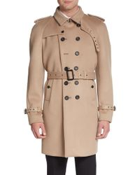Burberry Prorsum Double-breasted Cashmere-blend Trenchcoat - Lyst