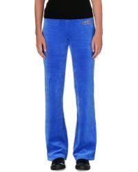 Juicy Couture Bootcut Velour Jogging Bottoms Bristol Blue - Lyst