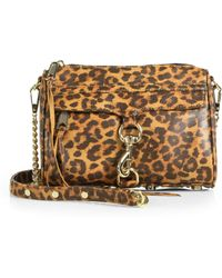 Rebecca Minkoff Leopardspot Leather Shoulder Pouch - Lyst