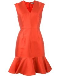 Carven | Peplum Dress Red | Lyst