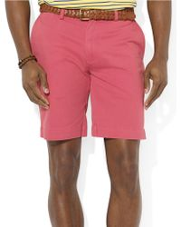 Polo Ralph Lauren Classic Fit Flatfront 9 Chino Shorts - Lyst