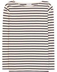 Saint Laurent Printed Cotton Top - Lyst