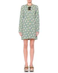 Marni Flower Print Button-Back Shift Dress - Lyst