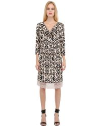 Blumarine Animalier Printed Viscose Jersey Dress - Lyst