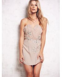 Free People Womens Shadow Floral Dress - Lyst