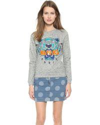 Kenzo Tiger Pullover Sweatshirt - Dark Grey Melange - Lyst