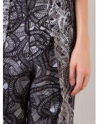 Fernanda Yamamoto - Cropped Printed Trousers - Lyst