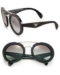 Prada Round Sunglasses  women s prada sunglasses lyst page 40