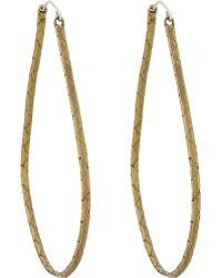 K/ller Collection Cobra Chain Hoop Earrings