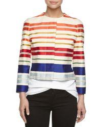 Stella McCartney Short Striped Jacket - Lyst
