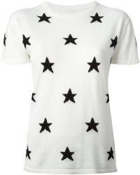 Zoe Karssen Star Short Sleeve Sweater white - Lyst