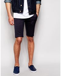 Diesel Chino Shorts P-Aily-Short blue - Lyst