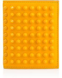 Christian Louboutin Paros Spikes Wallet yellow - Lyst