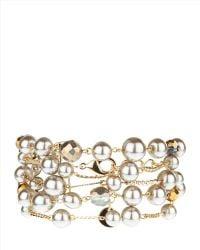 Jaeger - Multi-row Pearl Chain Bracelet - Lyst