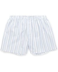 Sunspel Striped Cotton Boxer Shorts - Lyst