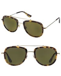 Krewe - 'breton' 53mm Sunglasses - Blonde Tortoise/ Polarized - Lyst