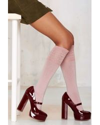Nasty Gal | Cici Knee-high Socks | Lyst