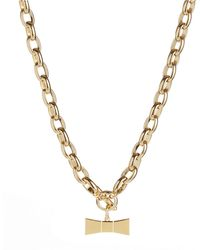 Kate Spade Hummingbow Charm Necklace - Lyst