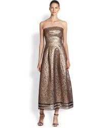 Sachin & Babi Noir Metallic Lace-striped Gown - Lyst