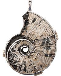 Pamela Huizenga - Ammonite And Pyrite Pendant - Lyst
