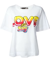 Love Moschino 'Love And Sexy' Print T-Shirt - Lyst