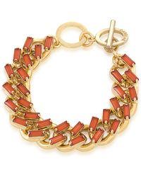 Carolee - Island Daiquiri Gold-Tone And Coral Bracelet - Lyst