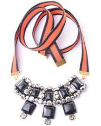 Marni Short Necklace With Ribbon - Lyst