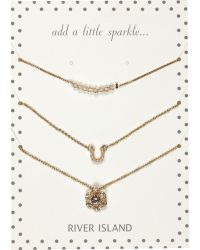 River Island Gold Tone Eclectic Necklace Pack - Lyst