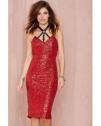 Nasty Gal Look Back Sequin Dress - Lyst