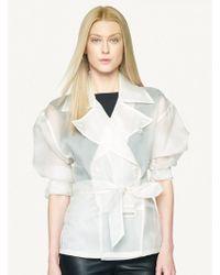 Ralph Lauren Black Label Silk Organza Alaura Jacket - Lyst