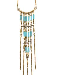 Vanessa Mooney Walkin' After Midnight Necklace - Gold/Turquoise - Lyst