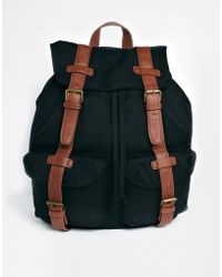 Asos Backpack with Contrast Straps - Lyst