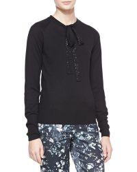 Badgley Mischka - Tieneck Sweater Black - Lyst