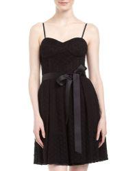 Isaac Mizrahi Eyelet Fitandflare Dress - Lyst