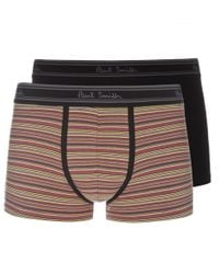 Paul Smith Black And Signature Stripe Boxer Briefs Two Pack - Lyst