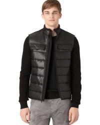 Calvin Klein Jeans Ripstop Mixed-media Vest - Lyst