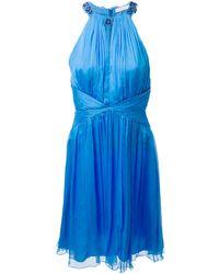 Matthew Williamson Sleeveless Pleated Dress - Lyst