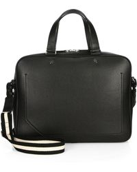 Bally Burke Smooth Leather Laptop Bag - Lyst