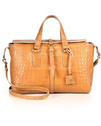 Mulberry - Roxette Small Crocodile-embossed Leather Satchel - Lyst