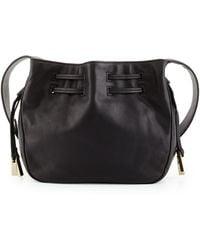 Halston Heritage | Bianca Medium Leather Bucket Bag | Lyst