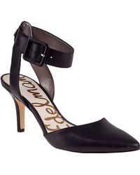 Sam Edelman Okala Pump Black Leather - Lyst