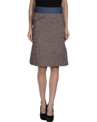 Chloé Knee Length Skirt - Lyst