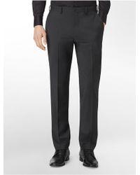 Calvin Klein X Fit Ultra Slim Fit Charcoal Pants - Lyst
