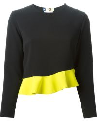 MSGM Ruffle Detail Top - Lyst