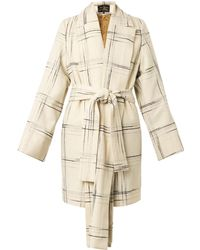 Vivienne Westwood Anglomania - Discovery Tartan Wool-Blend Coat - Lyst