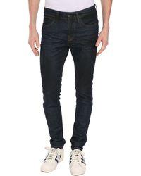 Selected Dark Denim Slim-Fit Jeans - Lyst